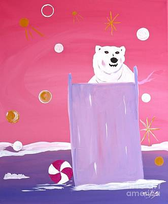 Painting - Silly Polar Bear Fun by Phyllis Kaltenbach
