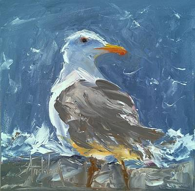 Painting - Silly Seagull by Barbara Andolsek