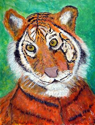 Humourous Painting - Silly Tiger Coat by Anne Sands