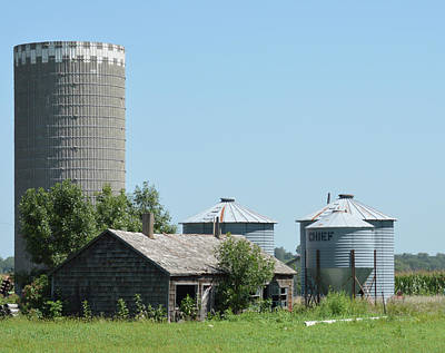 Photograph - Silo And Bins by Renie Rutten