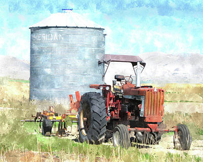Digital Art - Silo And Farmall by David King