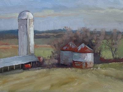 Painting - Silo And Grain Bins by Todd Derr