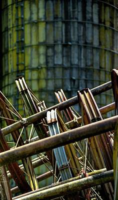 Photograph - Silo And Pipes by Jerry Sodorff