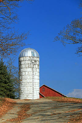 Photograph - Silo And Red Barn by Allen Beatty