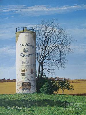 Painting - Silo Canvas by Norm Starks
