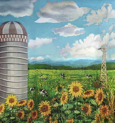 Silo Farm Art Print