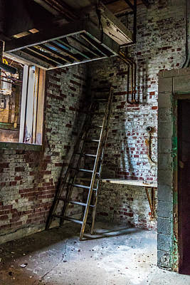 Photograph - Silo Ladder by Darleen Stry