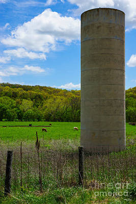Photograph - Silo On A Farm by Jennifer White