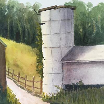 Painting - Silo by Peggy Poppe