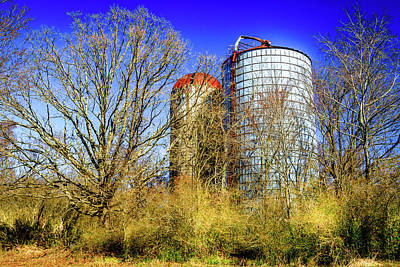 Photograph - Silo Storage - Farm Landscape by Barry Jones