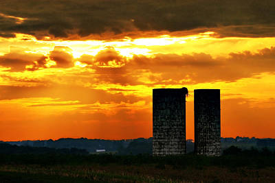 Silos At Sunset Art Print by Michelle Joseph-Long