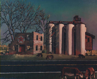 Painting - Silos by Blue Sky