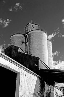 Photograph - Silos In Black And White by Nareeta Martin