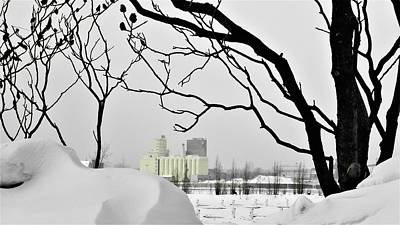Photograph - Silos In The Winter On Saint Laurent River by Cristina Stefan