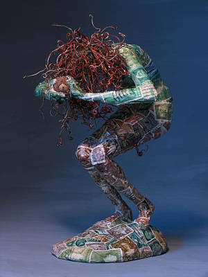 Fantasy Tree Mixed Media - Silvan Offering A Sculpture By Adam Long by Adam Long
