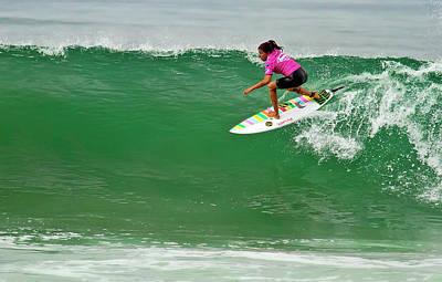 Photograph - Silvana Lima Surfing by Waterdancer