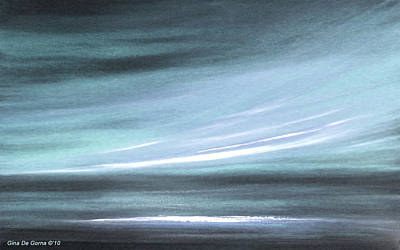 Painting - Silver Abstract Sunset by Gina De Gorna