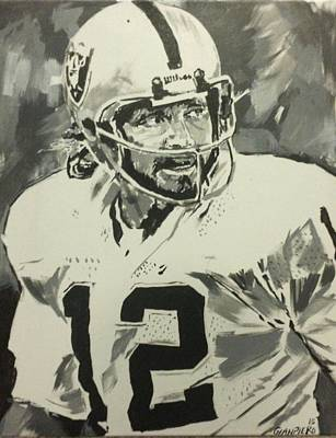 Nfl Legends Painting - Silver And Black Attack by Gianpiero M
