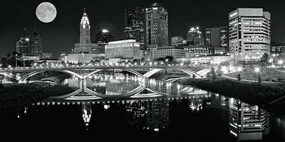 Photograph - Silver And Charcoal Columbus Pano by Frozen in Time Fine Art Photography