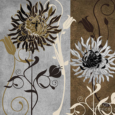 Silver And Cinnamon I Art Print by Mindy Sommers