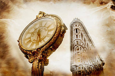 New York Digital Art - Silver And Gold by Az Jackson