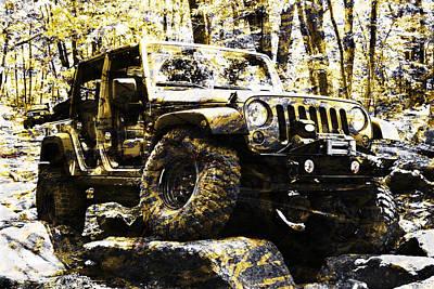 Metallic Photograph - Silver And Gold Jeep Wrangler Jku by Luke Moore