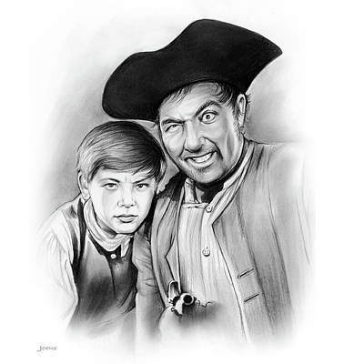 Silver Drawing - Silver And Hawkins by Greg Joens