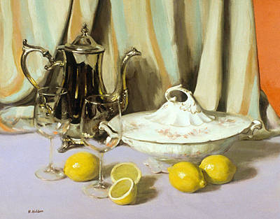 Painting - Silver And Lemons by Robert Holden