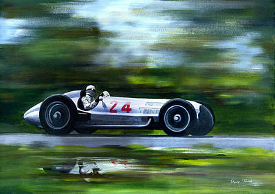 Painting - Silver Arrows by Steve Jones