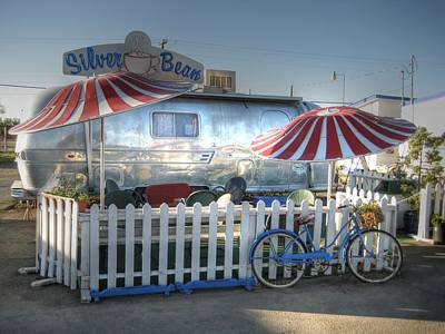 Airstream Trailer Photograph - Silver Bean by Jane Linders