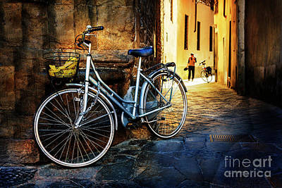 Photograph - Silver Bicycle Of Florence by Craig J Satterlee