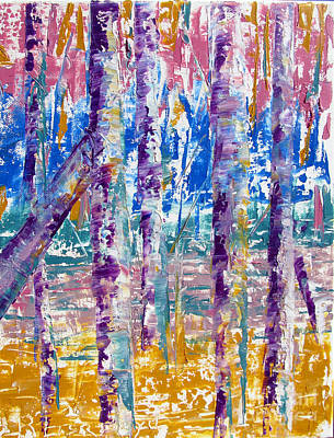 Painting - Silver Birch Parade by Lisa Boyd