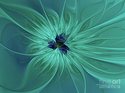 Digital Art - Silver Blue Beauty by Deborah Benoit