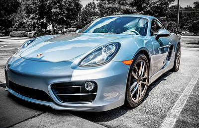 Photograph - Silver Blue Porsche by Anthony Doudt