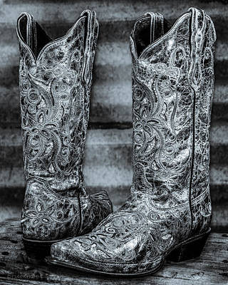 Photograph - Silver Boot by Erich Grant