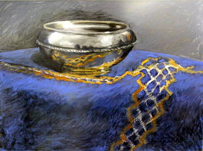 Silver Bowl Art Print by Lenore Gaudet