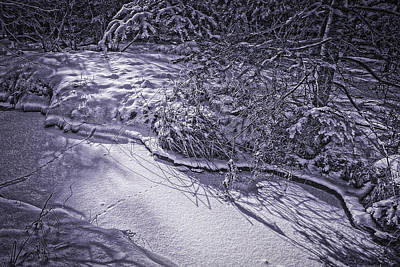 Photograph - Silver Brook In Winter by Gary Shepard