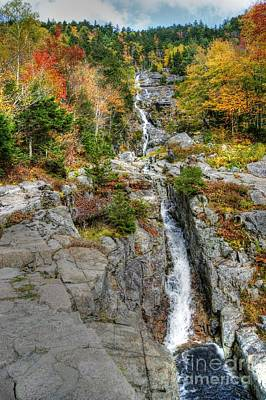 Photograph - Silver Cascade Waterfall by David Birchall
