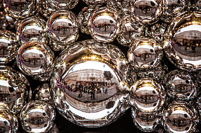 Decorated For Christmas Photograph - Silver Christmas Balls by Jenny Rainbow