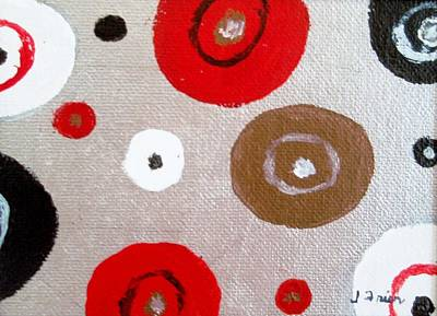 Silver Circle Abstract Art Print by Jamie Frier