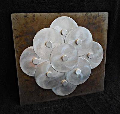 Disc Mixed Media - Silver Clouds by Jim Ramirez