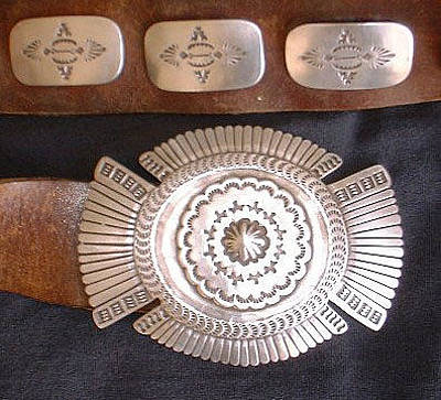Concho Belt Jewelry - Silver Concho Belt by Eddie Romero
