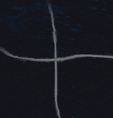 Painting - Silver Cross by Dan Sproul