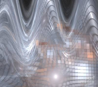 Digital Art - Silver Cube Waves by Kim Sy Ok