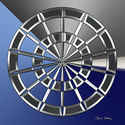 Digital Art - Silver Design 6 by Chuck Staley