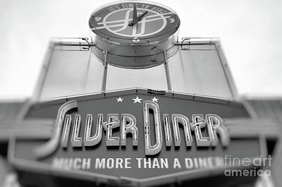 Photograph - Silver Diner Bw by John S