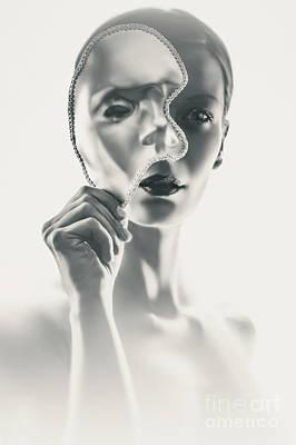 Photograph - Silver Face Eye Mask by Dimitar Hristov