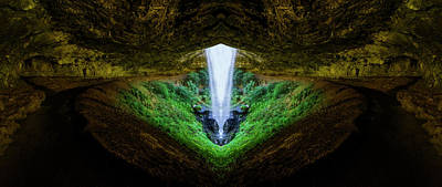 Quest Photograph - Silver Falls - North Falls Reflection by Pelo Blanco Photo