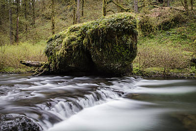 Photograph - Silver Falls Rock And Rapids  by John McGraw