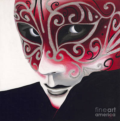 Mardi Gras Painting - Silver Flair Mask by Patty Vicknair